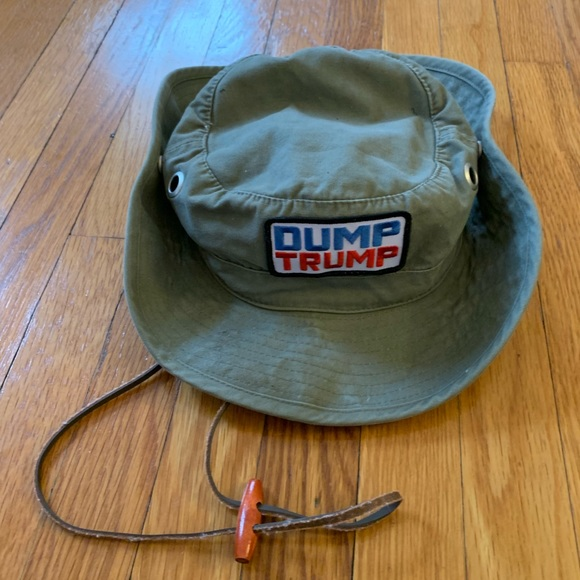 792acc15141 Ahead Other - Dump Trump Safari Snap Up bucket hat. M L